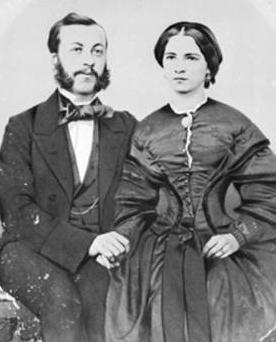 August Friedrich Faltin und seine Frau Clara v. Below, Leipzig 1856