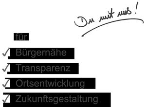 Aktiver Bürgerverein für Bürgernähe, Transparenz und Ortsentwicklung