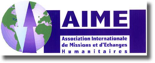 Logo AIME, association internationale de missions et d'échanges humanitaires