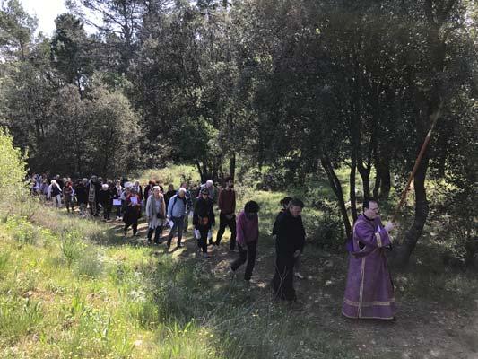 Le Chemin de la Passion, du Patriarche Bartholomée 1er, commence ensuite...