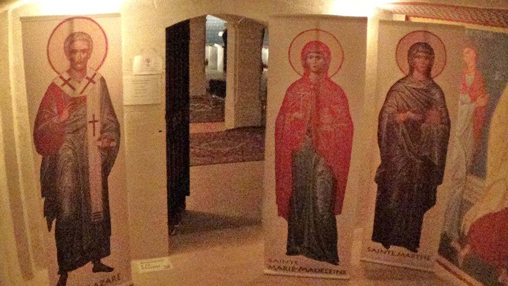 La crypte de sainte Marie Madeleine, apôtre de Provence.