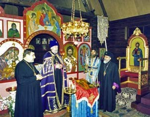 S.S. Volodymyr, Patriarche d'Ukraine, en visite au Monastère Saint  Michel du Var
