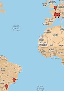 CARTE DES LIEUX DE L'EGLISE ORTHODOXE FRANCAISE (Google Maps)