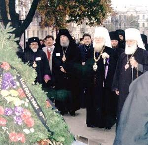 Recueillement sur la tombe de SS Volodymyr