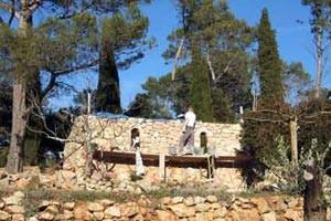 Les travaux de la chapelle durant l'été 2006
