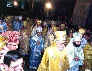 Mgr Vigile au sacre de S.S. Volodymyr à Ste Sophie de Kiev