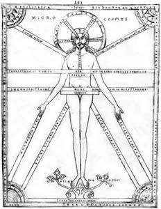 Glossarium Salomonis. Abbatiale de Prüfening. L'homme, image de l'Univers. 1158-1165.