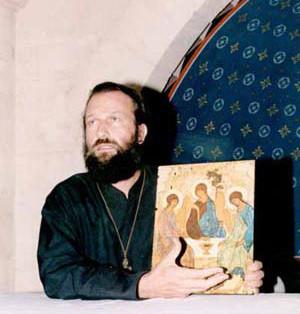 père Jean Séraphim lors d'un séminaire au Monastère St. Michel du Var