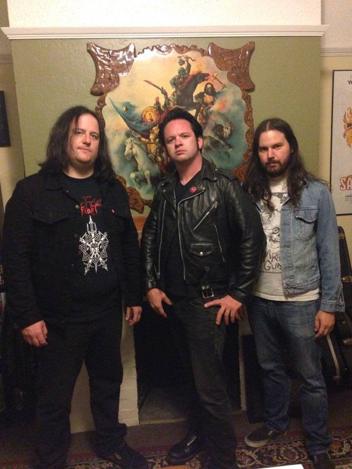 Hangin' with original drummer Pat Bailey. This is the first photo ever taken of the original Night Demon lineup