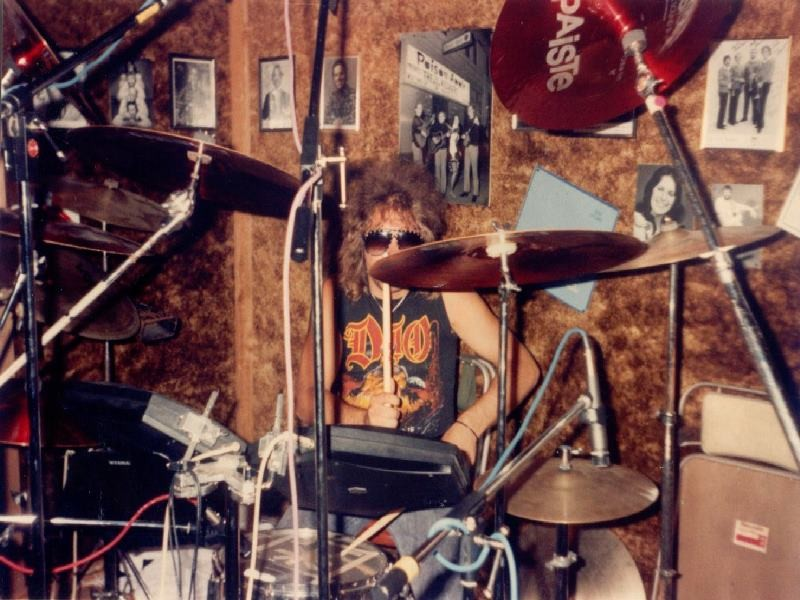 Johnny laying Drum Tracks for Every Dog