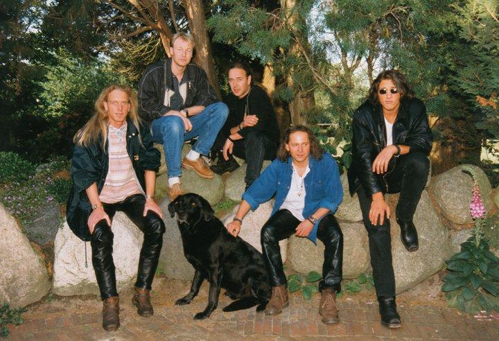 Virginia Value Offizielles Bandfoto 1995 1996. Fotografiert von Sylvia Grabowski. mit Jörg Fröhlich, Jens Weinert, Oliver Reschka und Uli Bohle.