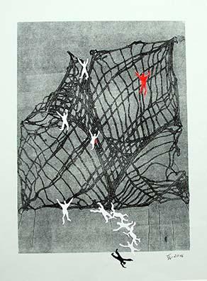 """""""rausgefallen"""",  55 x 45 cm, Materialdruck"""