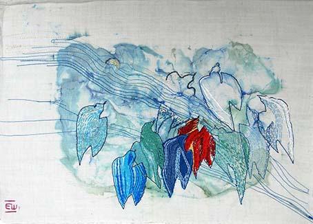 """""""Hoffnungsschimmer"""", Monotonie, bestickt, ca. 30x50cm"""