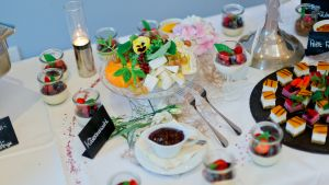 leckeres Hochzeitsbuffet