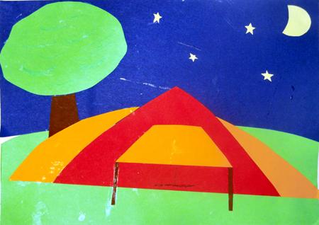 Bau dein Zelt auf, blicke in die Ferne, freu dich drauf und beobachte die Sterne