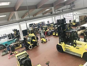 Norgatec Allemagne atelier chariot elevateur Hyster