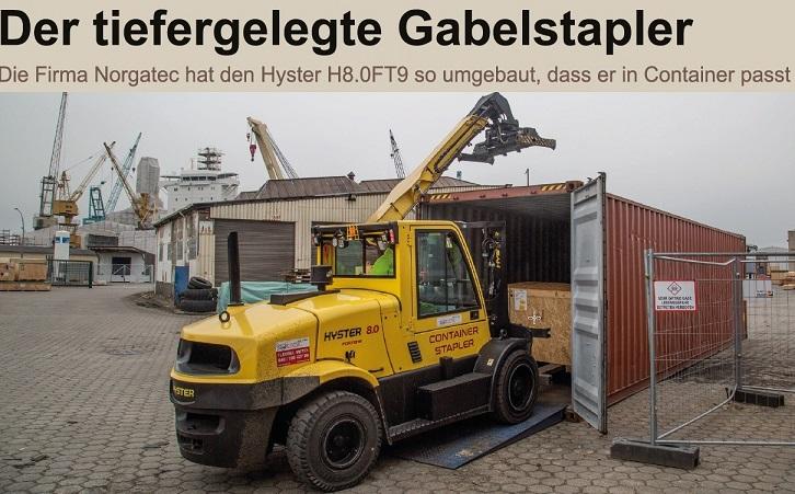 containerfähiger Schwerlaststapler 8-9to mieten - deutschlandweit