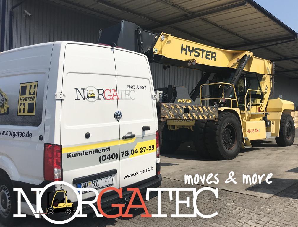 Norgatec servicio en reach stacker Hyster
