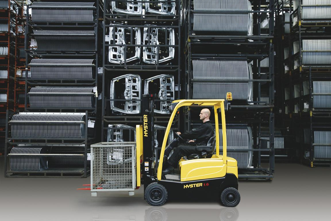 electric forklift Hyster in store