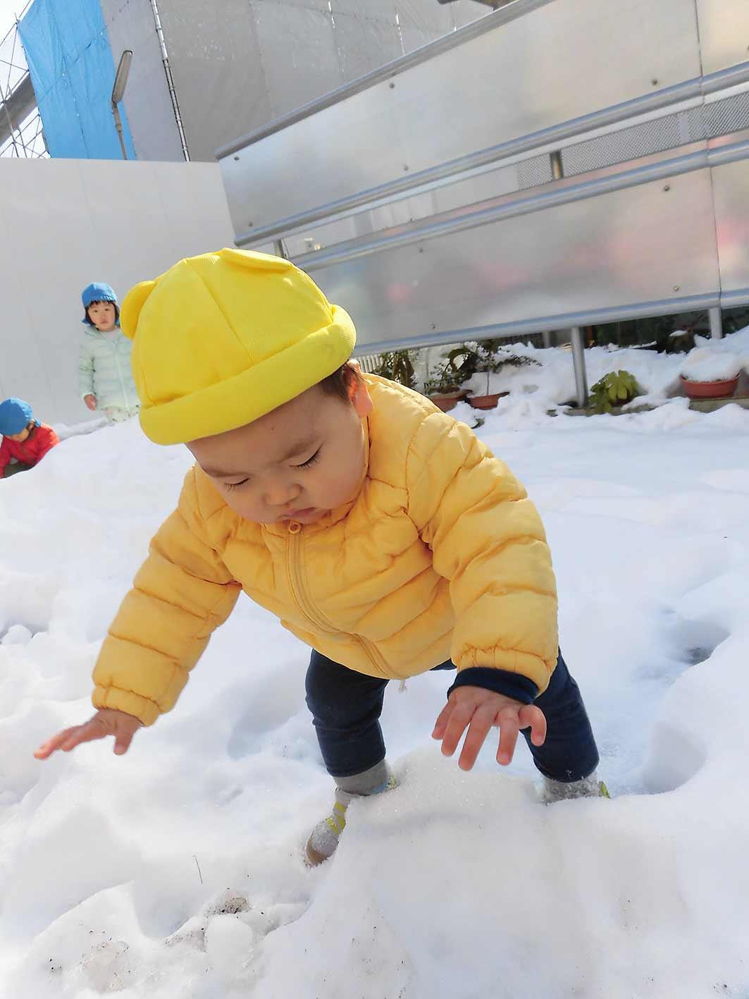 COCO-ro保育園、雪の日の様子です