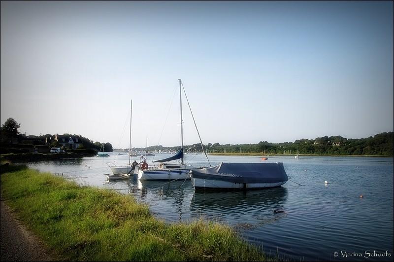 Direkt vor dem Grundstück - die Bucht bei Flut
