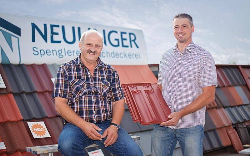 Firmengründer Alfred Neulinger mit Sohn Markus Neulinger
