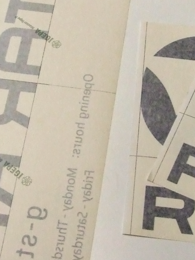 folien-fabrik / G-Star-Filiale Wildau / Schaufensterbeschriftung