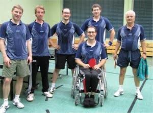 v.l.n.r.: Dirk Scalla, Leo Wengler, Christoph Moritz, Jörg Didion (sitzend), Markus Jacobs, Helmut Stiefel