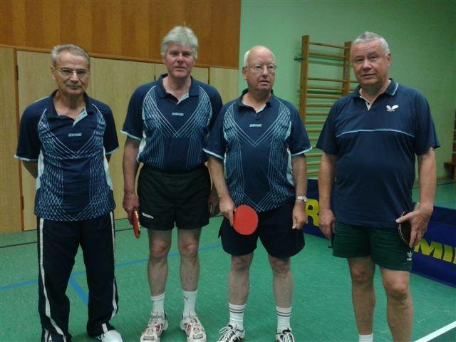 v.l.n.r.: Bernd Dumke, Karl-Hans Riehm, Edgar Thielen, Werner Jullien