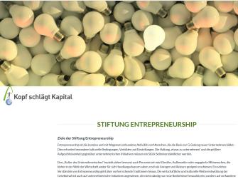 Stiftung Entrepreneurship | www.entrepreneurship.de