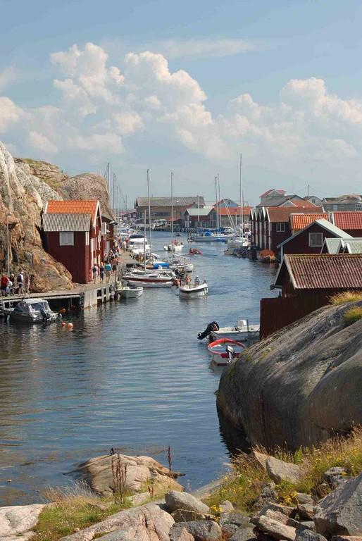 Smögenin vanha kalastuskylä on aivan turistikäytössä