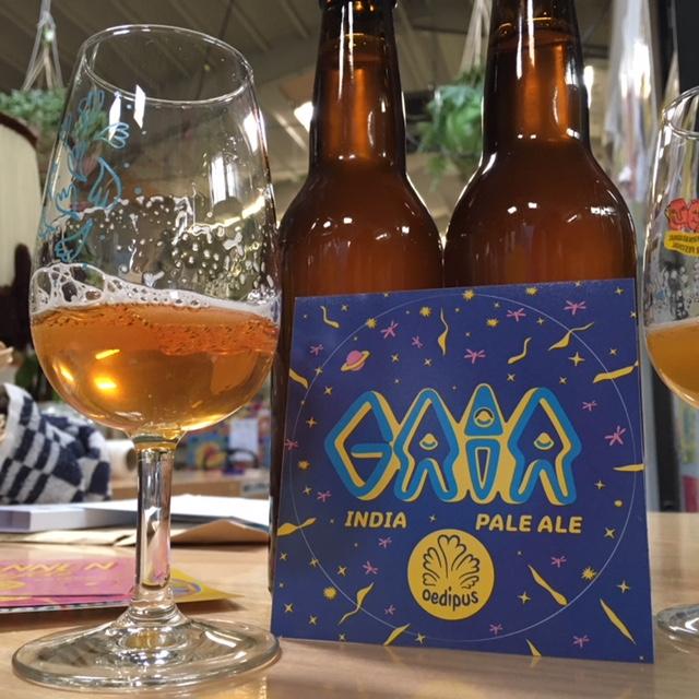 GAIA india pale ale (IPA) Een helder bitter biertje;  ik vind dat bittere wel lekker.