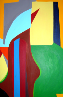 Analyse Illusion und Objekt (4)  |  80 x 120  |  Acryl auf Leinwand  |  2004