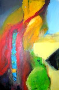 Analyse Illusion und Objekt (1)  |  80 x 120  |  Acryl auf Leinwand  |  2004