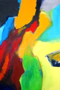 Analyse Illusion und Objekt (2)  |  80 x 120  |  Acryl auf Leinwand  |  2004