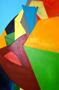 Analyse Illusion und Objekt (3)  |  80 x 120  |  Acryl auf Leinwand  |  2004