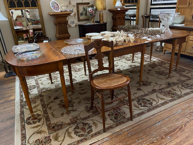 Leopold Stickley Gate Leg Drop Leaf Table with Two End Cap Tables $2,295.00