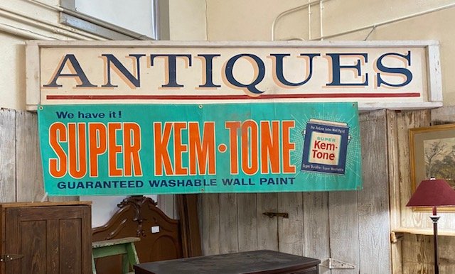 Super Kem-Tone Paint Sign  $125.00  (Antiques Sign is Display Only....Not for sale.)