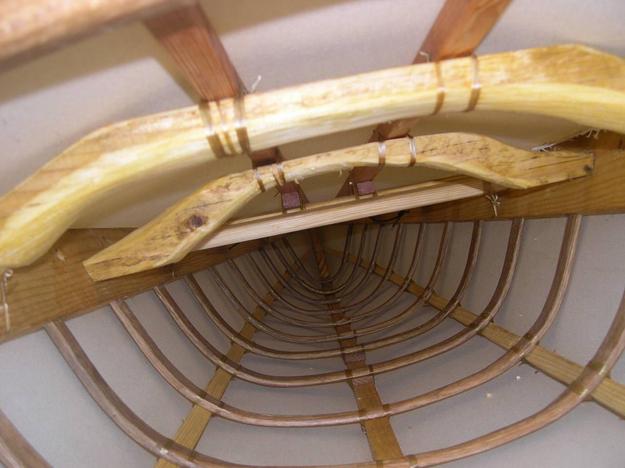 kayak groenlandais, vue de la structure