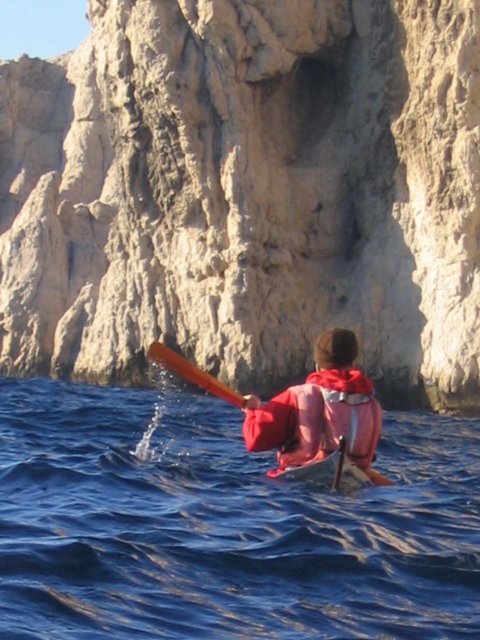 kayak groenlandais, sud de Riou
