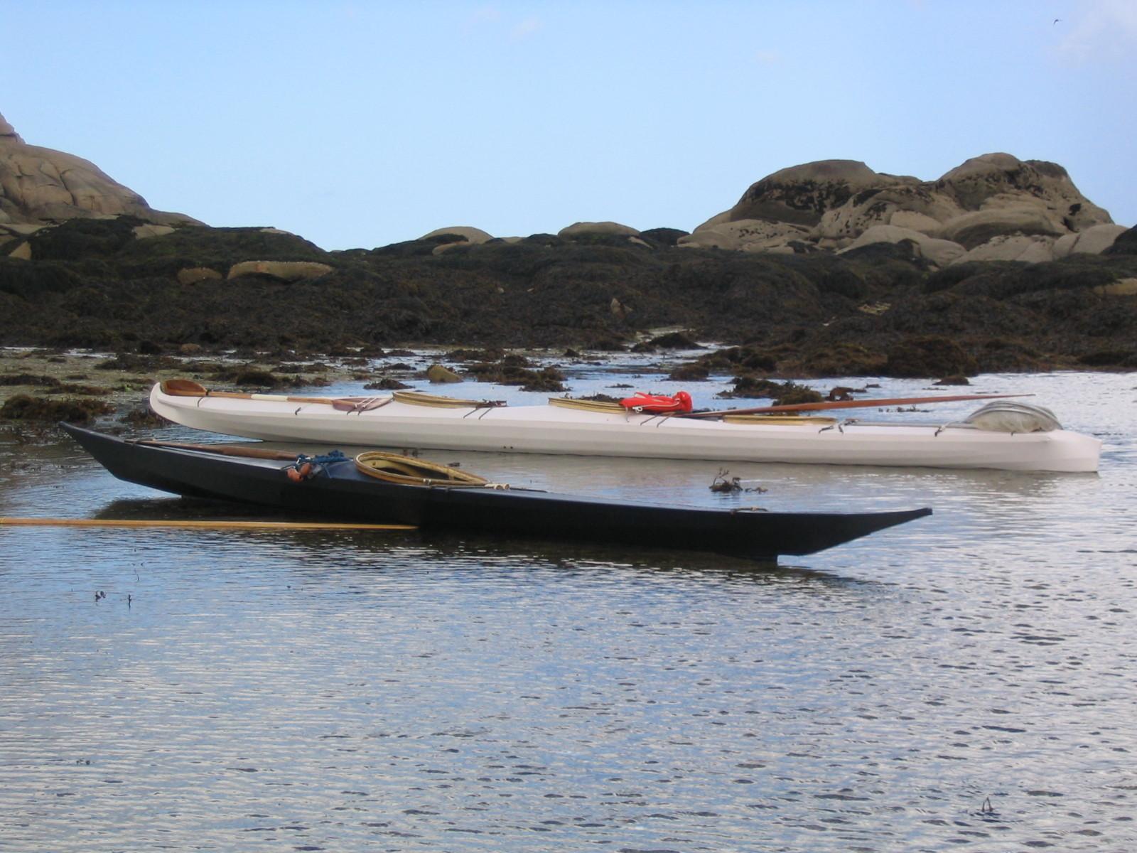 Baidarka & kayak groenlandais, île Callot