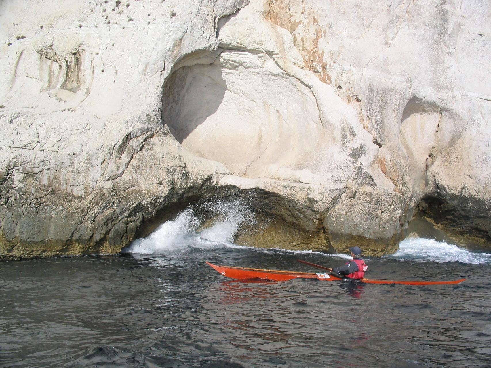 kayak groenlandais, Calanques
