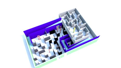 plan du labyrinthe lasergame 50