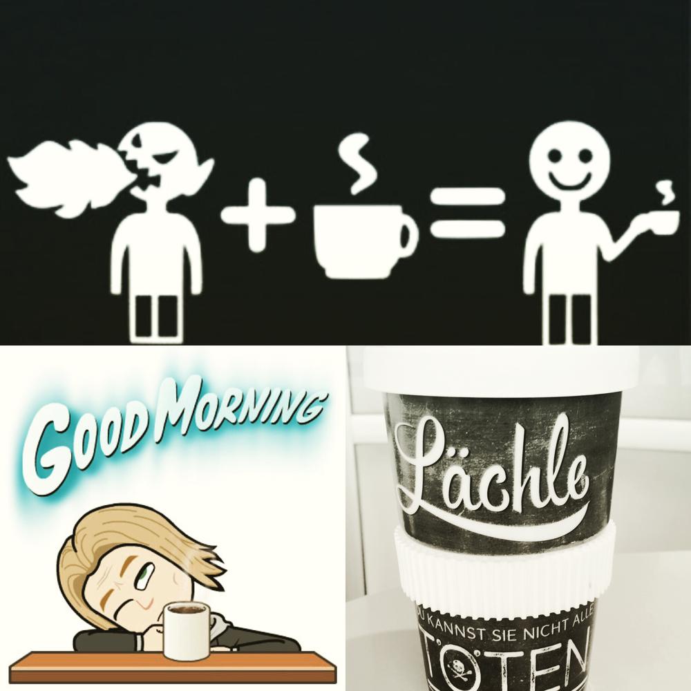 Erst Kaffee, die (um)Welt muss warten.