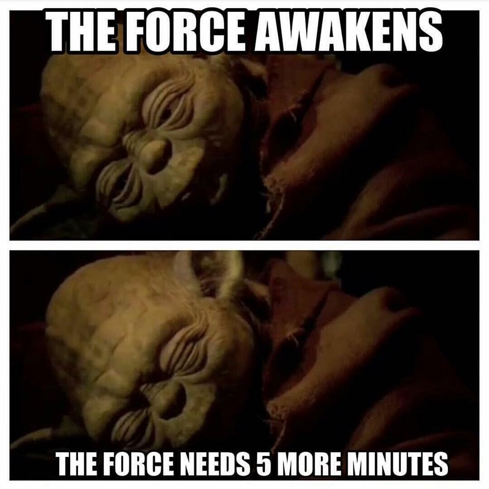Yoda haste recht!