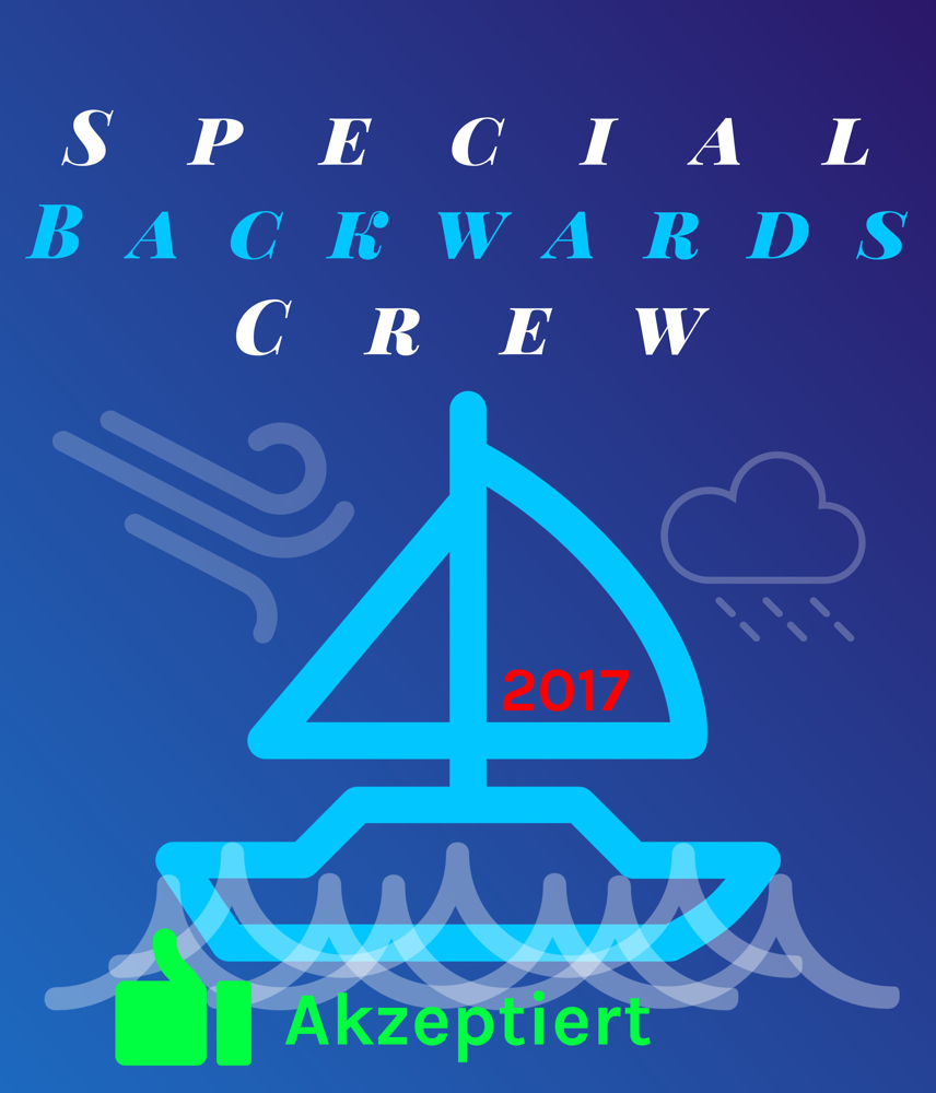 "Coverentwurf für die ""Special Backwards Crew"", September 2017."