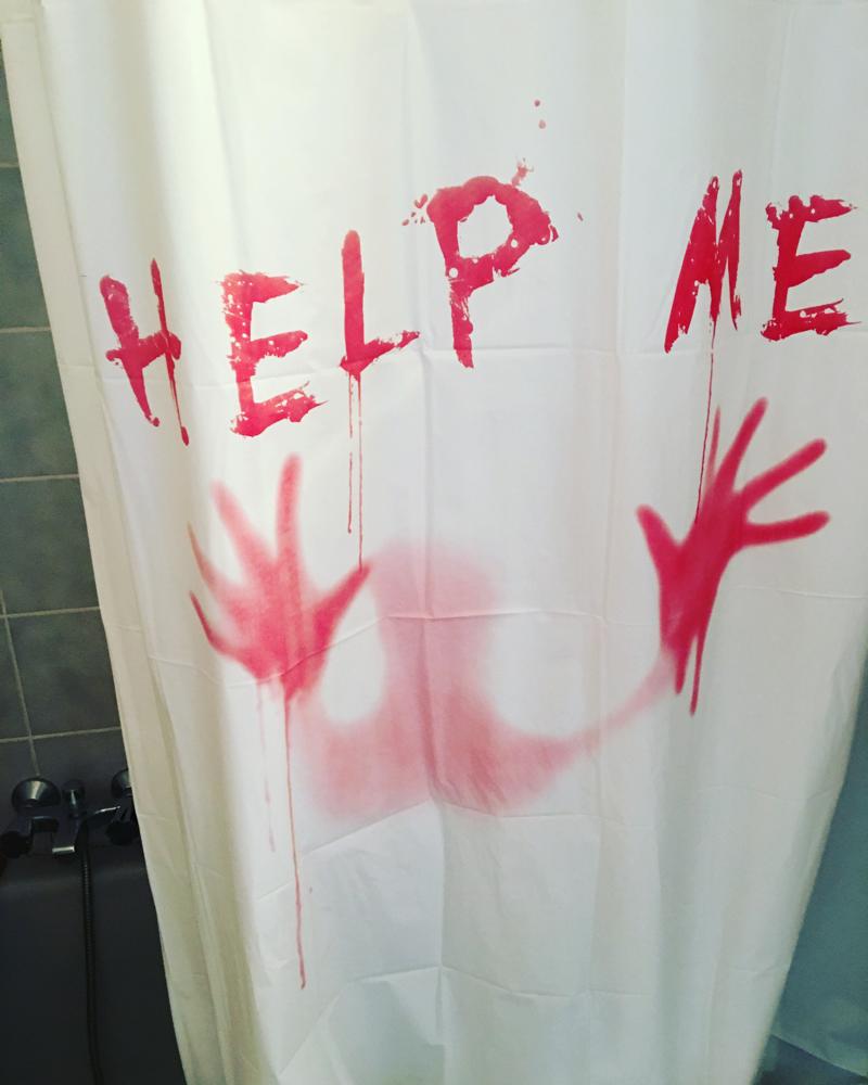 Mein neuer Duschvorhang