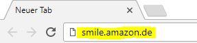 Über die Adresse smile.amazon.de auf das Shopping-Portal gehen. Die Seite und die Produkte sind 100% dieselben! Die andere Adresse ist nur nötig, damit der Verein ausgewählt werden kann.