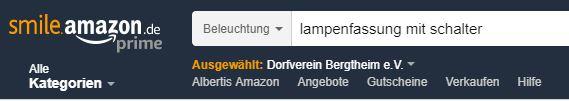"""Oben links erscheint das """"smile.amazon.de"""" Logo und der ausgewählte Verein wird angezeigt. Somit erkennt ihr sofort, ob ihr Richtig seid!"""