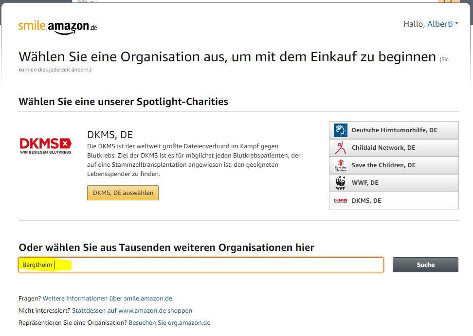 """Im unteren Suchfeld einfach """"Bergtheim"""" eingeben und """"Suche"""" klicken."""